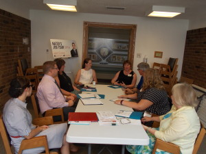 M.P. Nater talks about the Canada Summer Jobs program with constituents in Milverton