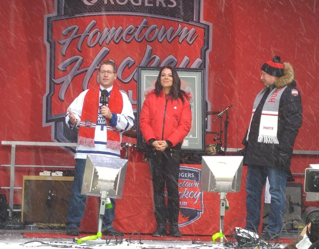 M.P. Nater speaks at Hometown Hockey in Stratford
