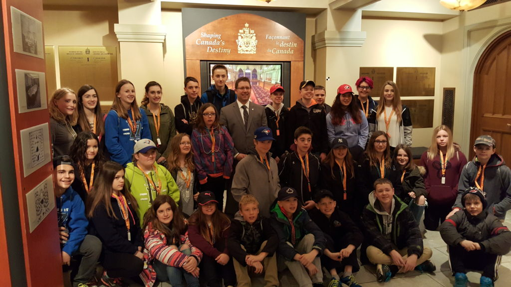 Visiting with St. Marys School students from Listowel