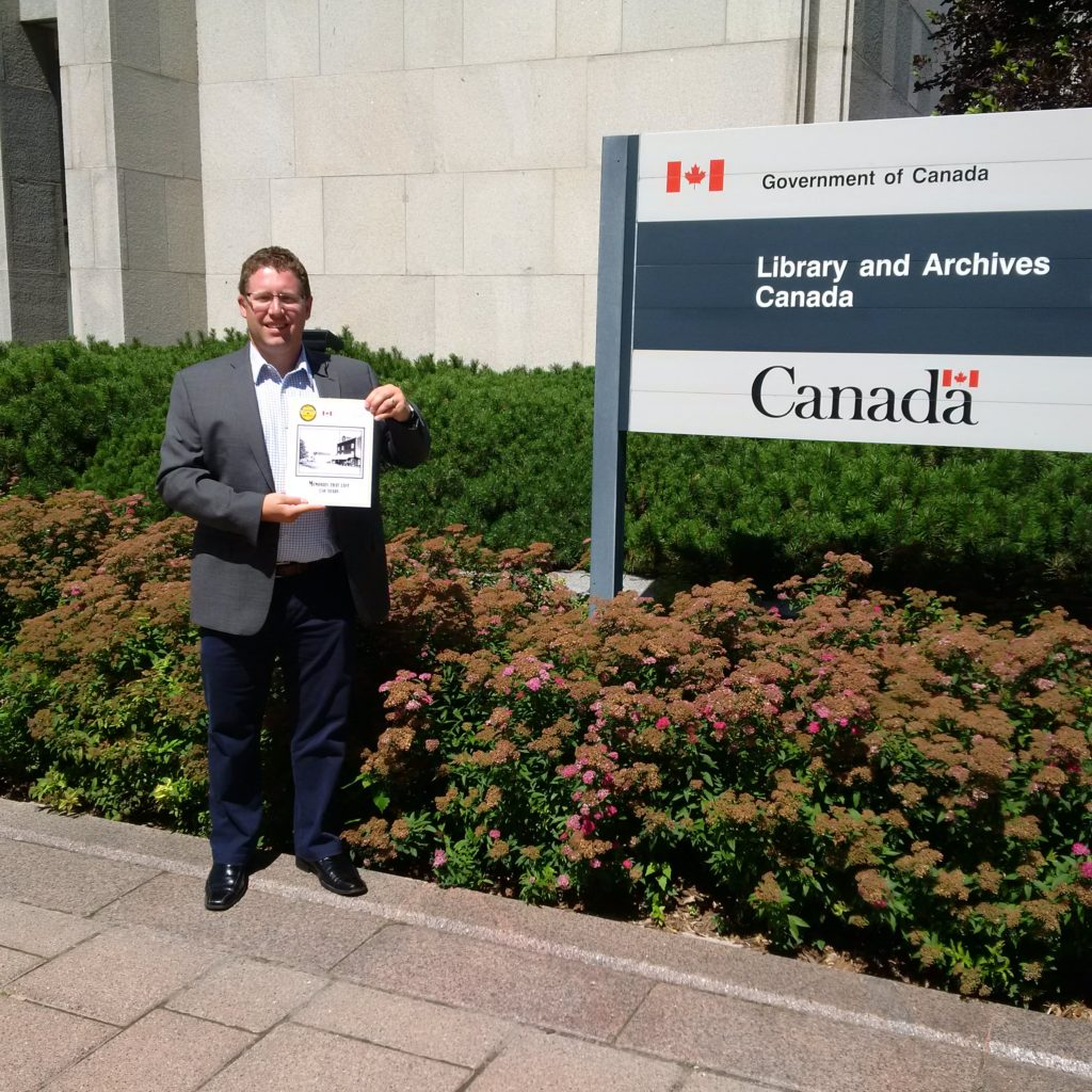 Delivering the Clifford Homecoming Book to Library and Archives Canada