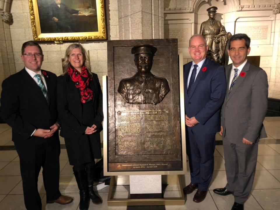 Commemorating WWI Soldier and Member of Parliament Samuel Simpson Sharpe (1873 - 1918)
